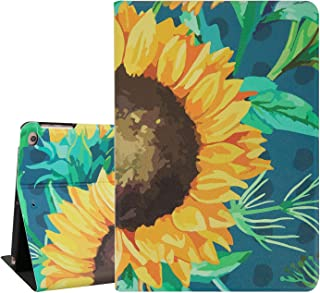 Hepix iPad Air 2 Cases Sunflowers iPad 9.7inch Case 2018 2017, Floral PU Leather Lightweight Protective iPad Covers Foil Stand with Auto Sleep Wake