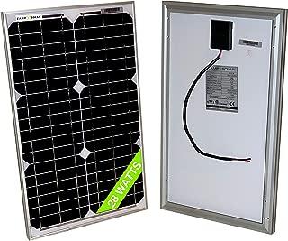 28 Watt Mono 18V Solar Panel 20W 25W 30W RV Van Solar Car Battery Charger Portable Solar Panel Trickle Charger 12 Volt Batteries Motorcycle RV Boat Marine UTV, ATV, Solar Generator (Zamp Solar)