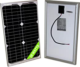 28 Watt Mono 18V Solar Panel 20W 25W 30W RV Van Solar Car Battery Charger Portable Solar Panel Trickle Charger 12 Volt Batteries Motorcycle RV Boat Marine UTV, ATV, Solar Generator (Zamp Solar)