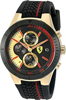 [フェラーリ]Ferrari 腕時計 830298 'RED REV EVO CHRONO' Quartz GoldTone and Silicone Watch 0830298 [並行輸入品]