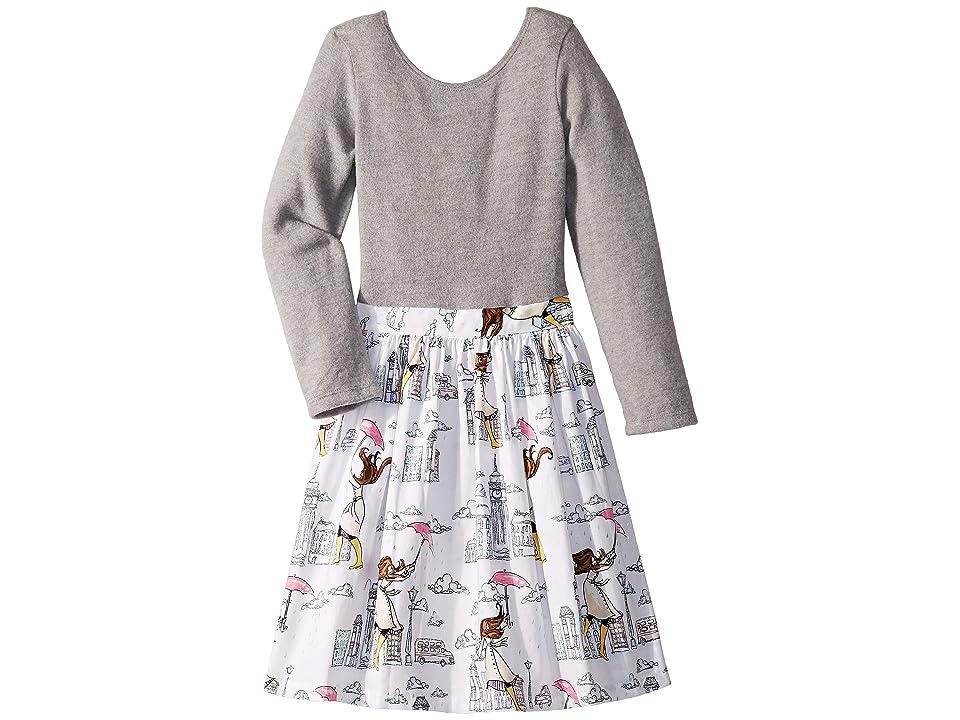 fiveloaves twofish London Girl Abbie Dress (Little Kids/Big Kids) (Grey) Girl