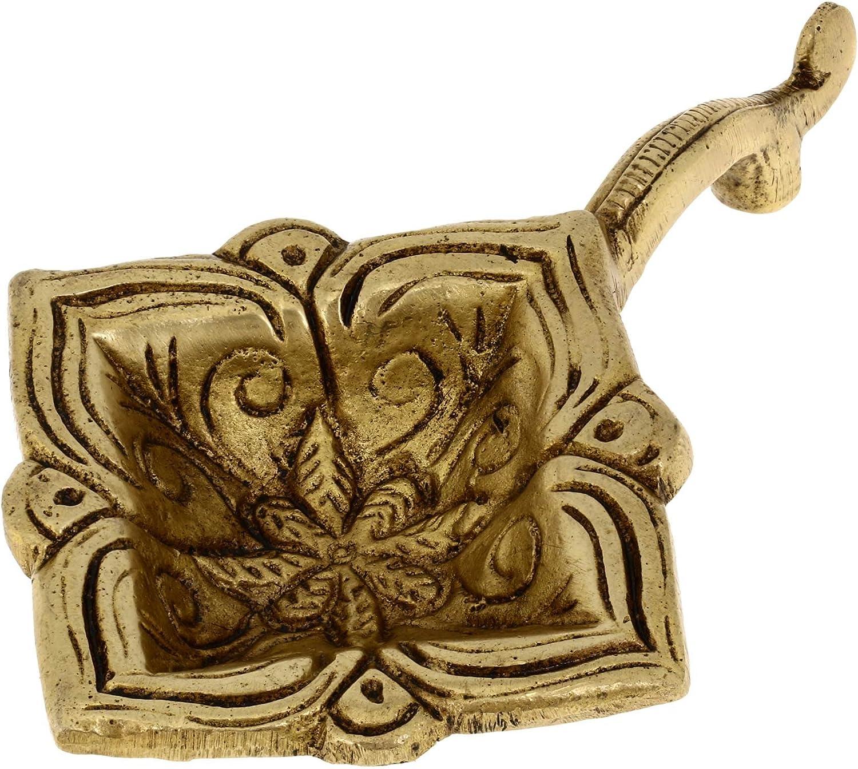 Shalinindia Brass Lamp Max 65% OFF Handmade Point Diya Religious Rare Oil