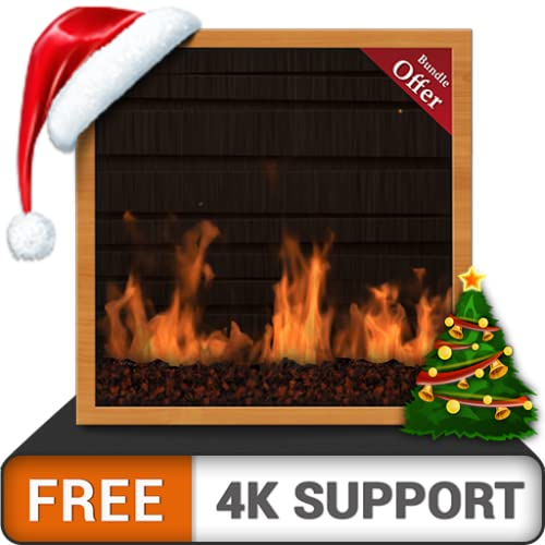 Amazing Gas Fireplace FREE - Enjoy the Christmas winter holidays on your HDR 8K 4K TV and fire devices as a wallpaper & theme for mediation & peace