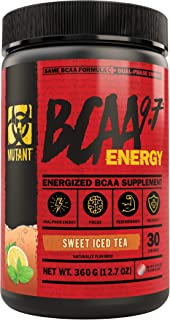 Mutant BCAA 9.7 Energy Powder with Branched-Chain Amino Acids, Electrolytes and Dual-Phase Caffeine for Unstoppable Energy...