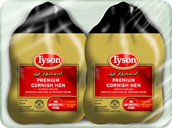 Tyson Cornish Hens Twin Pack, 2.75 Pounds (Frozen)