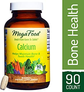 MegaFood - Calcium, Promotes Healthy, Strong Bones and Teeth, Vegan, Gluten-Free, Non-GMO, 90 Tablets (FFP)