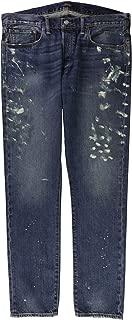 Mens Sullivan Slim Paint Splatter Straight Leg Jeans