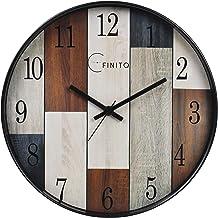 EFINITO Plastic Silent Movement Wall Clock (Brown_35 x 6 x 35 cm)