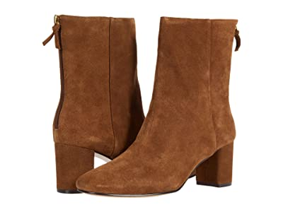 J.Crew Calf Suede Minimal Mckay Ankle Boot (Rich Walnut) Women