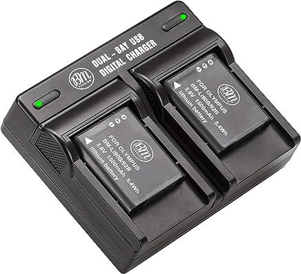 BM Premium Pack of 2 LI-90B, LI-92B Batteries and USB Dual Battery Charger for Olympus Tough TG-Tracker, Tough SH-1, SH-2, SP-100, SP-100 IHS, SP-100EE, Tough TG-1 iHS, Tough TG-2 iHS, Tough TG-3, Tough TG-4, SH-50 iHS, SH-60, XZ-2 iHS Digital Camera