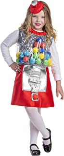 Dress Up America 749-L kostuum voor meisjes kauwgom automaten, meerkleurig, maat 12-14 jaar (taille: 86-96 hoogte: 127-145...