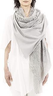 ミハイル ギニス アオヤマ MICHAIL GKINIS AOYAMA 着る ART ストール [登録意匠] 日本製 ハイテク ニット MADE IN TOKYO ギリシャ 大判 コットン Cotton Silver Gray シルバーグレイ