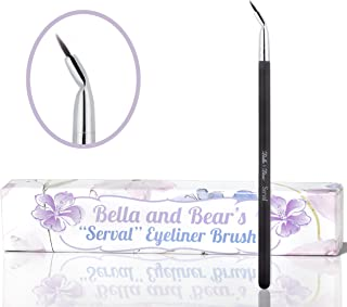 Bella and Bear Eyeliner Brush (Spring) - our angled eyeliner brush is perfect for defining eyes and for creating the winged cat eye look