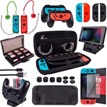 $49 » Cybcamo Accessories Kit Bundle for Nintendo Switch, Carrying Case, Screen Protector, Joycon Grips, Switch Controller Charg...