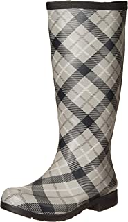 Flex Fit Elastic Plaid Tall Boot, PEB, 6