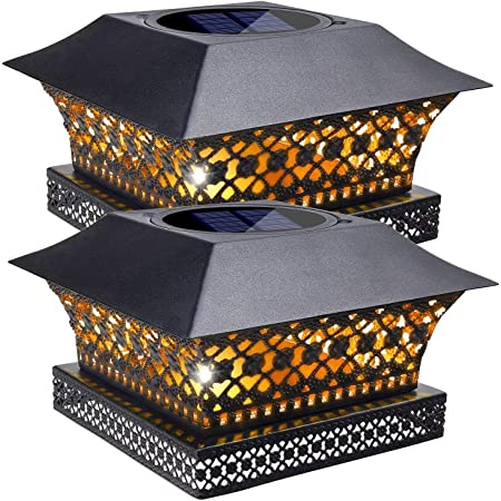 Outdoor Post Cap Light for Fence Deck or Patio Garden Decoration Solar Powered