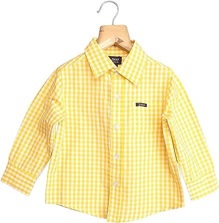 Jooni - Camisa a Cuadros para niño, Color Amarillo y Blanco ...