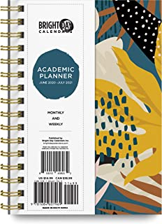 2020-2021 Tropical Leaves Academic Planner -Yearly Monthly Weekly Daily Calendar Organizer by Bright Day Spiral Bound Date... photo