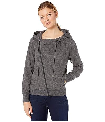 Skinnygirl Courtney Moto Knit Jacket (Charcoal Heather Grey) Women