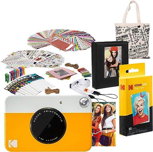 popular Kodak lowest PRINTOMATIC Instant Print Camera (Yellow) Deluxe online sale Bundle online