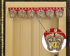 Handmade Door Hanging Lakshmi Charan Toran Bandanwar for Home Decoration (30 X 5.5 inch)