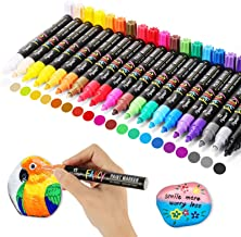 Paint Pens, Emooqi 20 Pack Paint Markers Oil-Based Painting Marker Pen Set for Rocks Painting, Wood, Fabric, Plastic, Canv...