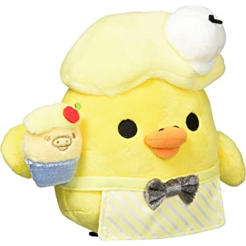 San-X Rilakkuma Pajama Party Hanging Stuffed Toy Plush Kiiroitori MX86301