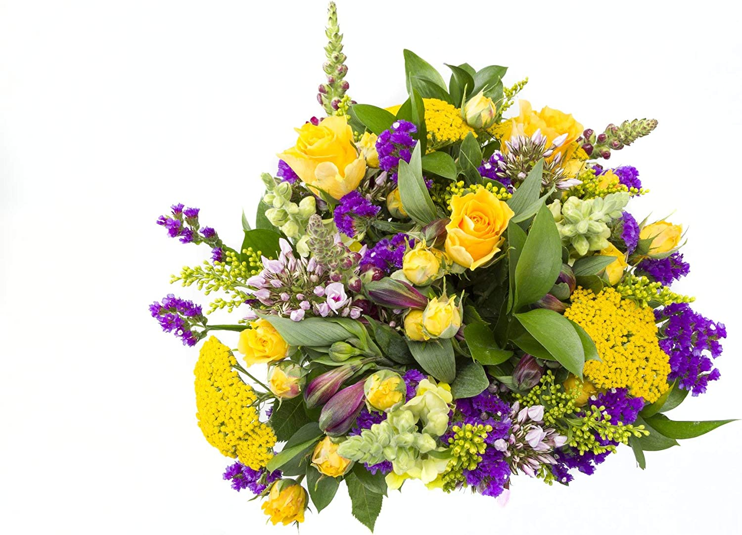 San Jose Mall Chichi Party Purple and Yellow Some reservation Snapdragons Flowers Roses with