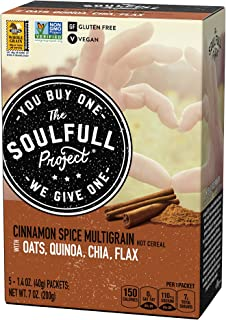 Sponsored Ad - The Soulfull Project Instant Oatmeal Packets, Cinnamon Spice Multigrain, 5 Individual Servings (Pack of 6),...