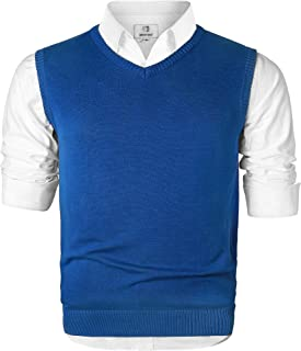 Men's V-Neck Cotton Vest Casual Sleeveless Sweater
