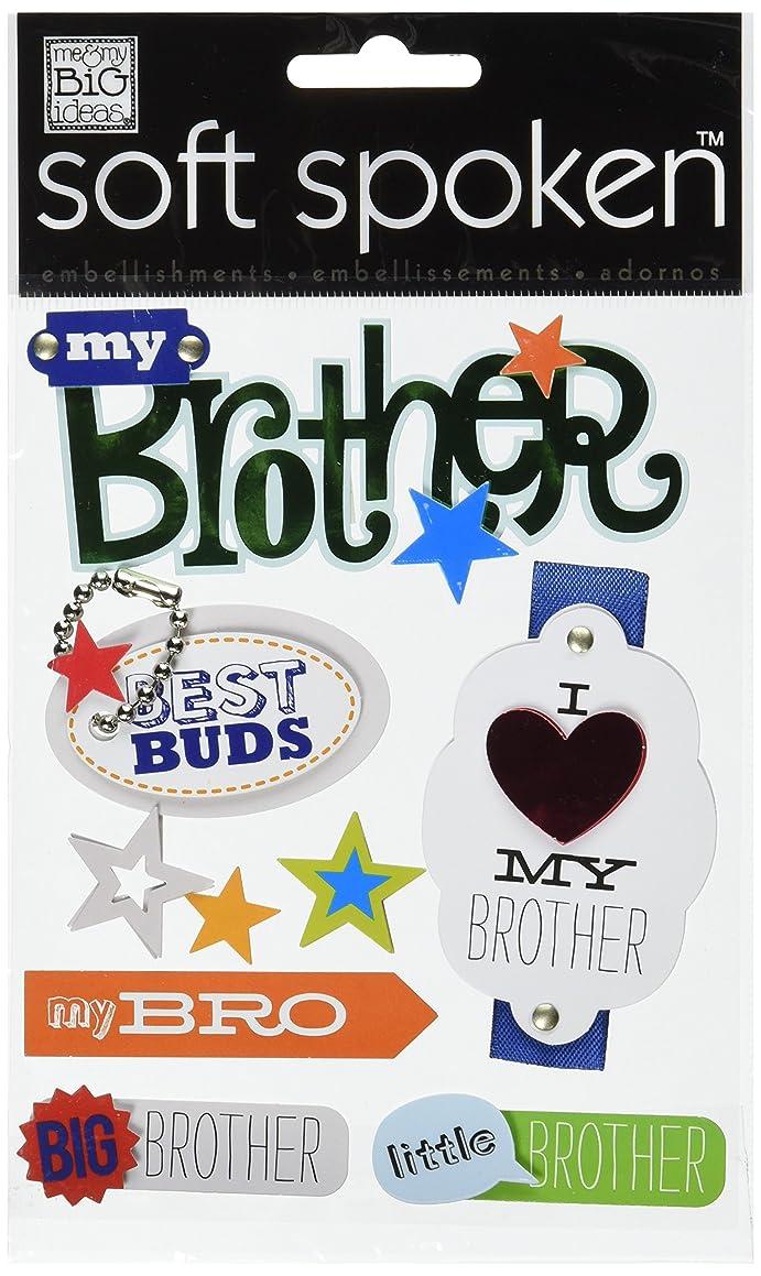me & my BIG ideas Soft Spoken Themed Embellishments, Brother