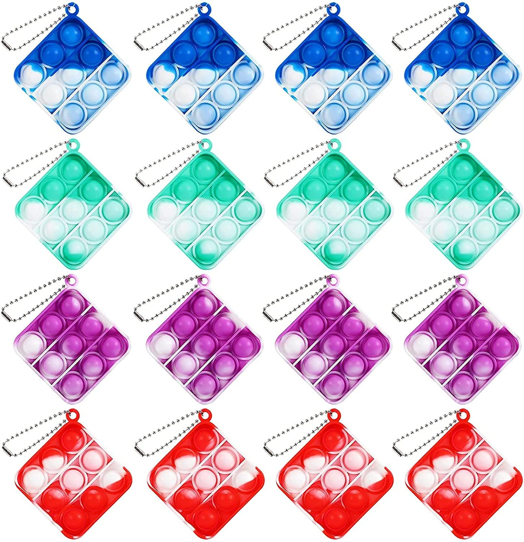 WPELIA 16 Year-end gift Pcs Mini Simple Stress Toy Pop Super special price Fidget