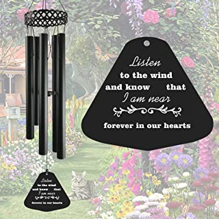 Memorial Wind Chimes for Outside Deep Tone,30' Windchimes Sympathy Gift Soothing Relaxing Melody, Metal Wind Chime for Mom...