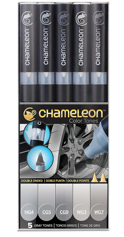 Chameleon Art Products, Chameleon 5-Pen, Gray Tones Set (CT0509)