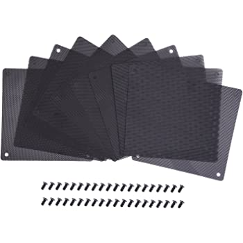 RDEXP 120mm Computer PC Cooler Fan Dustproof Mesh Case Cover Dust Filter Pack of 10