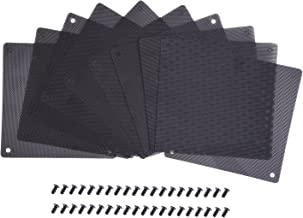 eBoot 120 mm Dust Filter Computer Fan Filter Cooler PVC Black Dustproof Case Cover Computer Mesh 10 Packs with 40 Pieces of Screws