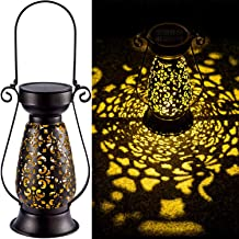 LeiDrail Solar Lantern Outdoor Tabletop Lights for Table Pathway Garden Yard Solar Powered LED Hanging Light Metal Waterpr...