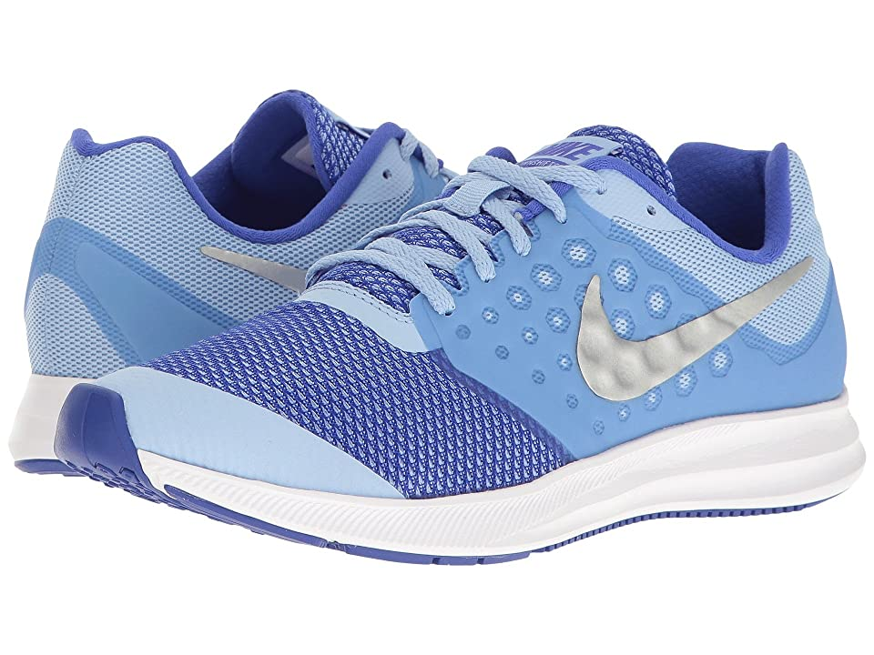 0f12803e48c7 Nike Kids Downshifter 7 (Big Kid) (Aluminum Metallic Silver Paramount Blue