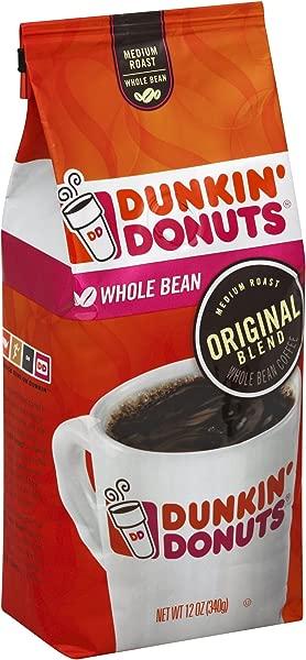 邓肯甜甜圈原味混合中号烤全豆咖啡 12 盎司装 6 个