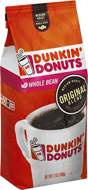 Dunkin Donuts Original Blend Medium Roast Whole Bean Coffee 12 Ounce Pack Of 6