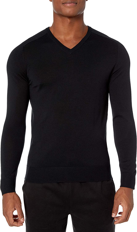 Peak Velocity Men's V-Neck Merino Wool Thermolite Sweater