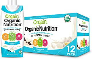 Orgain Organic Vegan Plant Based Nutritional Shake, Vanilla Bean - Meal Replacement, 16g Protein, 25 Vitamins & Minerals, ...