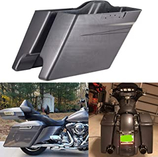 Us Stock Charcoal Pearl 4 1/2 inch Extended Stretched Saddlebags with Pinstripe Fit for Harley Touring Street Road Glide Special Road King Electra Glide Ultra Classic 2014 2015 2016 2017 2018 2019