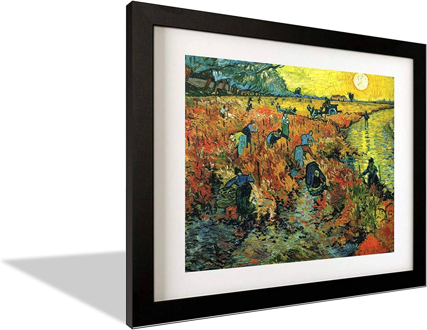 Red Vineyards Van Gogh Wall Art Framed with Popular product Black Indianapolis Mall Wood Posters
