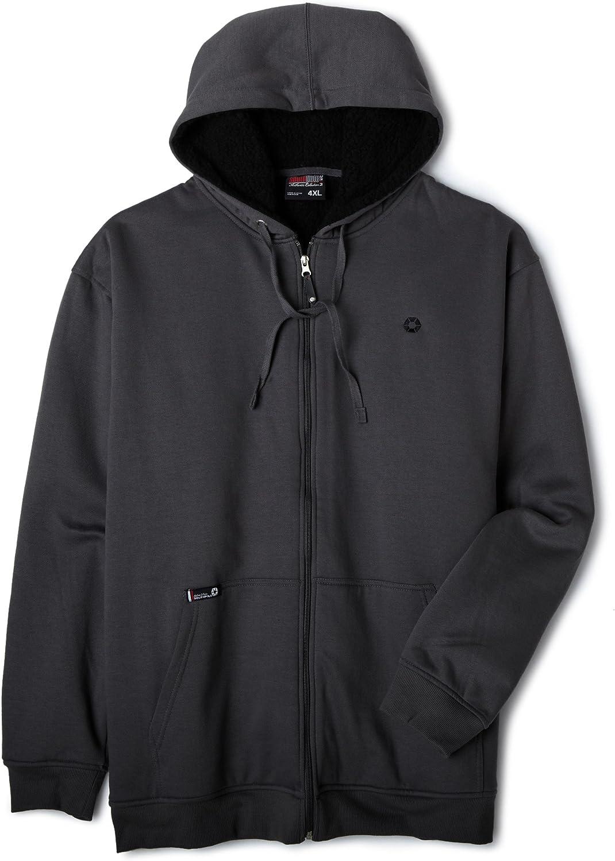 Southpole Men's Basic Full Zip Sherpa Lined Hoody