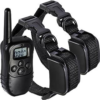 OxGord (オックスゴード) 330 ヤード (301.7m) 充電式 防水 LED 100LV ショック リモコン 2 個 ペット 吠えグセ 訓練 カラー