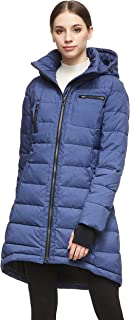 Orolay Women's Down Jacket Coat Winter Mid-Length