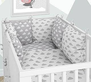 Ropa de cama para cuna y cojín – Seis cojines de terciopelo, fundas para la cuna de 60 x 120 cm