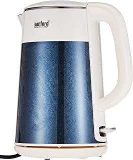 Sanford Stainless Steel Electric Kettle - Sf3332Ek-1.5L Bs - White and Blue
