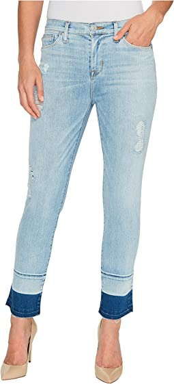 Zooey Mid-Rise Crop Straight with Released Hem Five-Pocket Jeans in Side Hussel